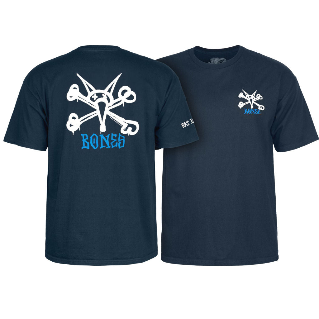 Powell Peralta Rat Bones Navy tee Youth