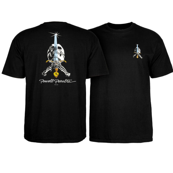 Powell Peralta Rodriguez Skull And Sword black tee