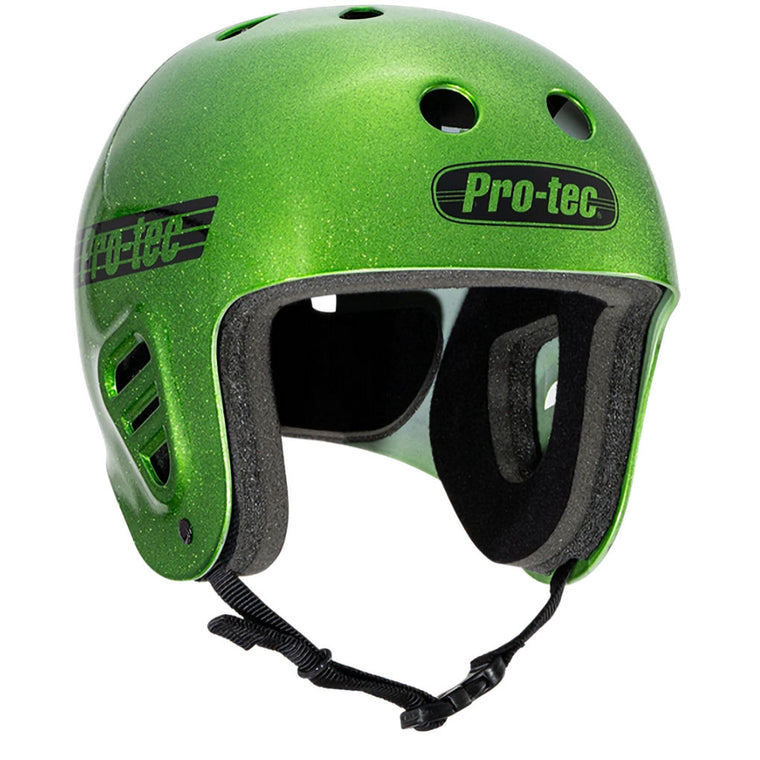 Protec Helmet Full Cut Candy Green Flake