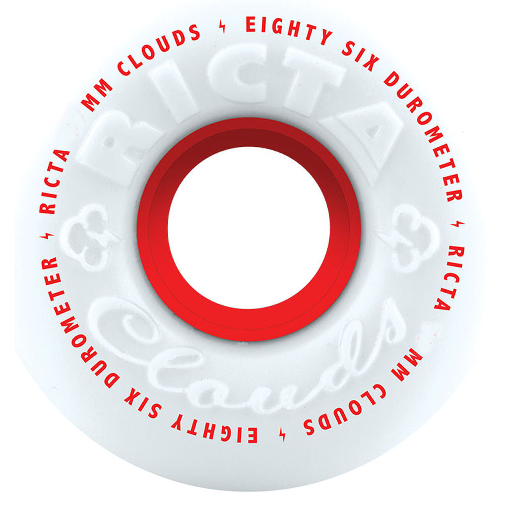 Ricta Wheels Clouds white red 86A 55mm