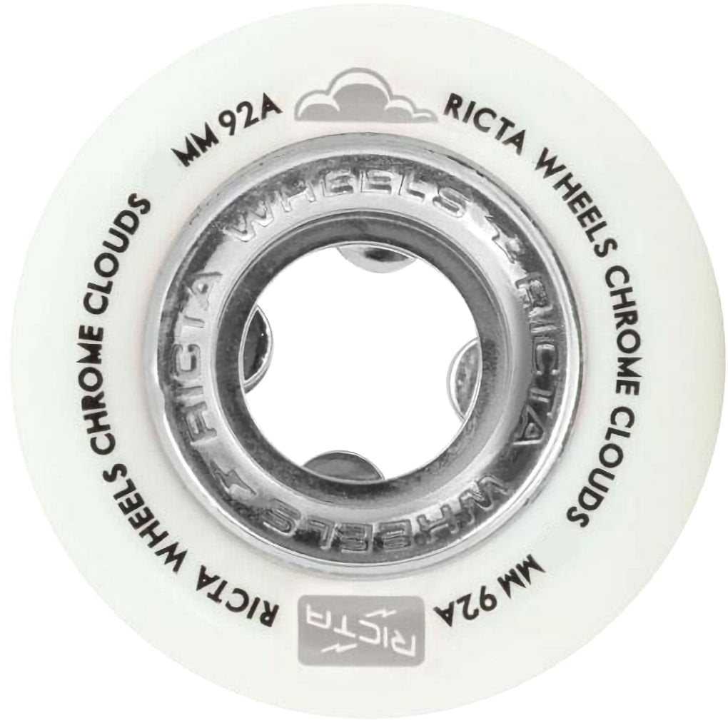 Ricta Wheels Chrome Clouds White Black 92A 56mm