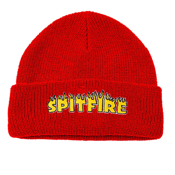 Spitfire Flash Fire Cuff Beanie Red
