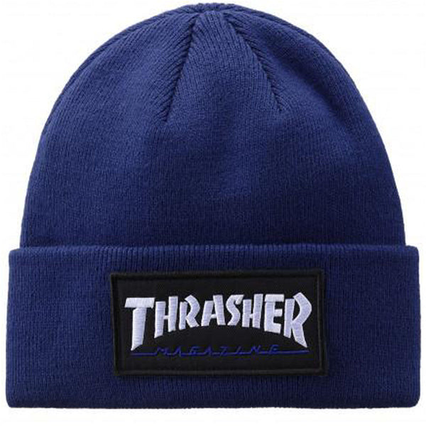 Thrasher Beanie Logo Patch Navy