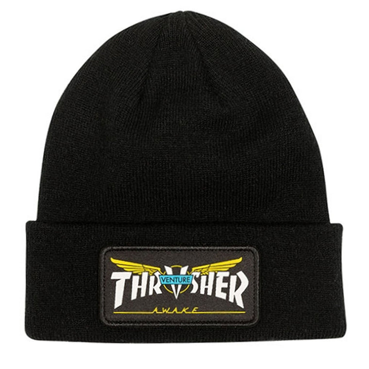 Thrasher Venture Collab Patch Beanie Black