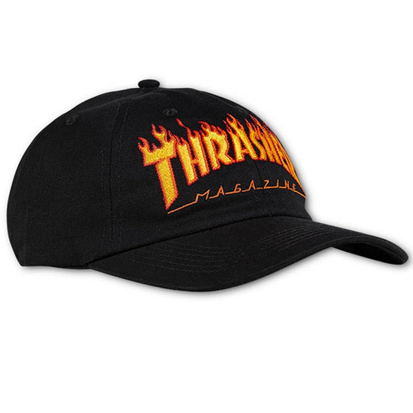 Thrasher Magazine Flame Old Timer Black