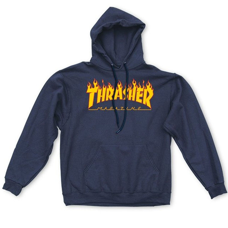Thrasher Flame Mag Logo hoodie Navy