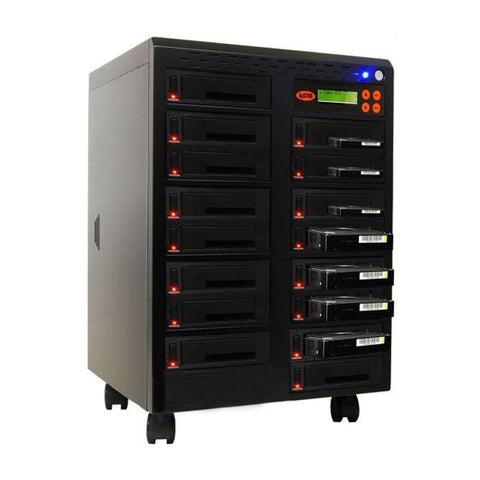 "1-15 High Speed Hard Disk Drive (HDD/SSD) Duplicator/Sanitizer High Speed(600mb/sec) SATA 2.5""&3.5"" Dual Port/Hot Swap - (SYS15HDD600-DP)"