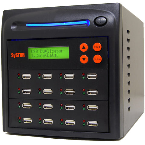 1 to 15 USB Flash Drive Duplicator - (SYS15USB)