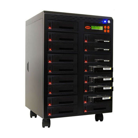 "1-16 High Speed Hard Disk Drive (HDD/SSD) Duplicator/Sanitizer High Speed(150mb/sec) SATA 2.5""&3.5"" Dual Port/Hot Swap - (SYS16HDD150-DP)"