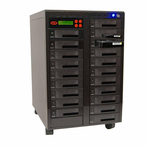 "1-19 High Speed Hard Disk Drive (HDD/SSD) Duplicator/Sanitizer High Speed(600mb/sec) SATA 2.5""&3.5"" Dual Port/Hot Swap - (SYS19HDD600-DP)"
