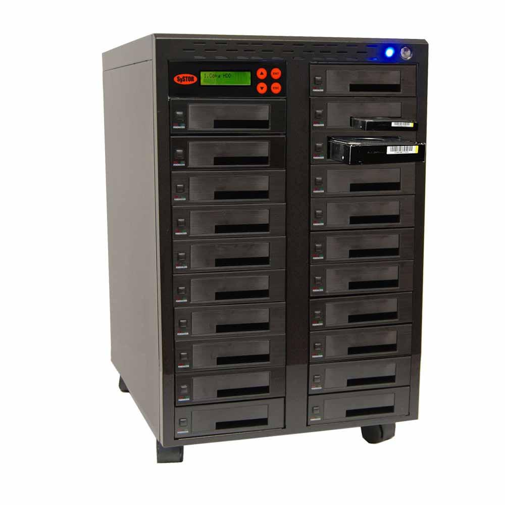 "1-20 High Speed Hard Disk Drive (HDD/SSD) Duplicator/Sanitizer High Speed(300mb/sec) SATA 2.5""&3.5"" Dual Port/Hot Swap - (SYS20HDD300-DP)"