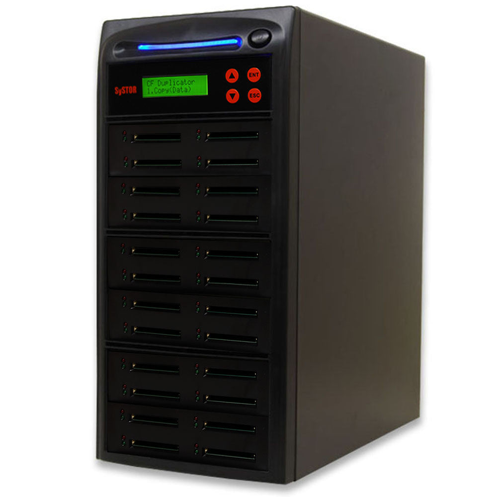 1 to 23 Compact Flash CF Memory Card Duplicator - (SYS23CFD)