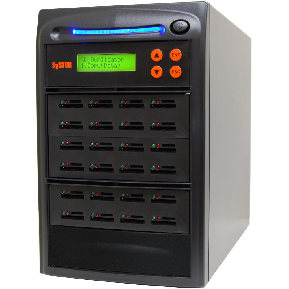 1 to 23 SD / MicroSD Memory Card Duplicator Copier - (SYS23SD)