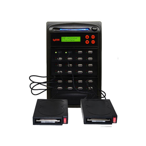 1 to 23 Duplicator for External USB Hard Drives & USB Flash Memory Cards - (SYS23USB-HDD)