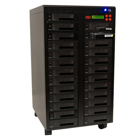 "1-24 High Speed Hard Disk Drive (HDD/SSD) Duplicator/Sanitizer High Speed(300mb/sec) SATA 2.5""&3.5"" Dual Port/Hot Swap - (SYS24HDD300-DP)"
