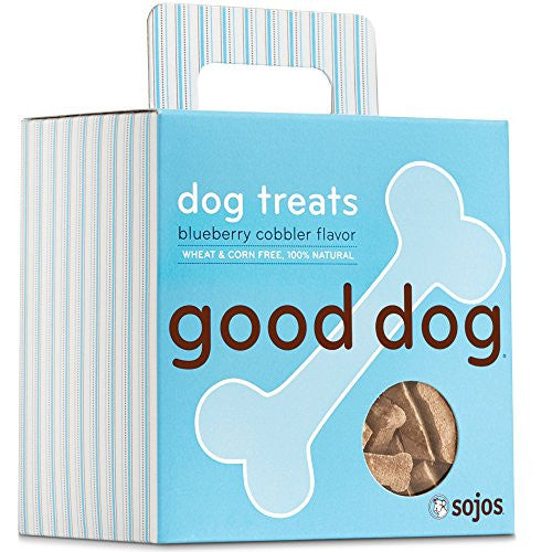 Sojos Natural Crunchy Dog Treats Good Dog -Blueberry Cobbler Flavor