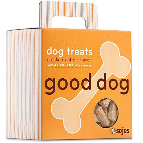 Sojos Natural Crunchy Dog Treats Good Dog - Chicken Pot Pie Flavor
