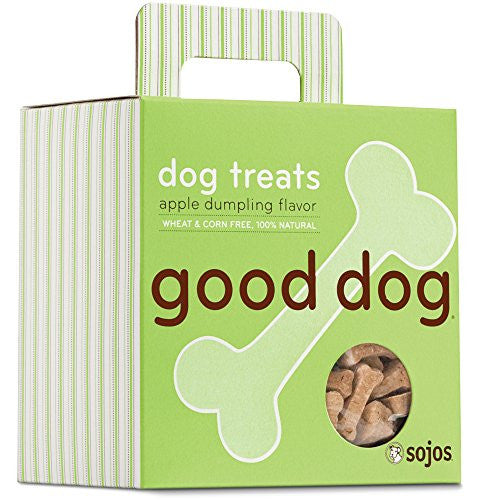 Sojos Natural Crunchy Dog Treats Good Dog - Apple Dumpling  Flavor