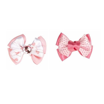 Aria Molly Bow Pink - Pair