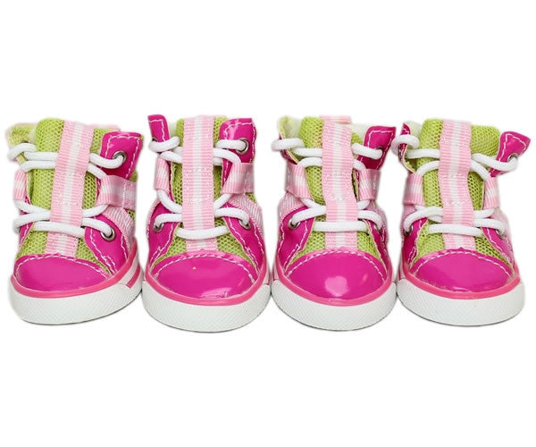 Converse Dog Shoes - Pink