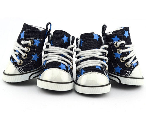 Denim Stars Converse - Blue