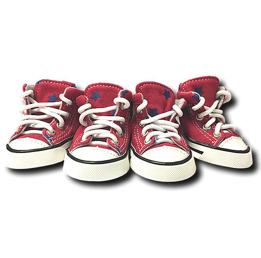 Denim Stars Converse - Red