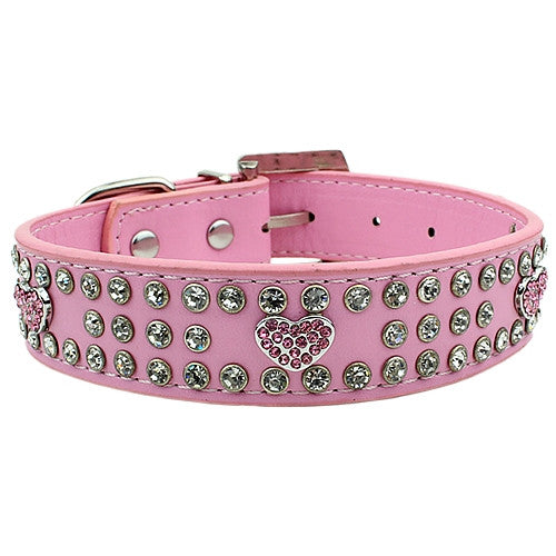 Diamantes Hearts Collar