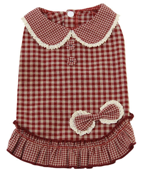 Gingham Dress Red