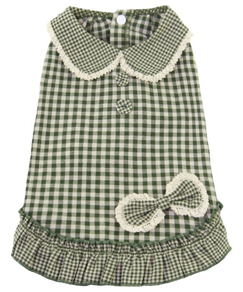 Gingham Dress Green
