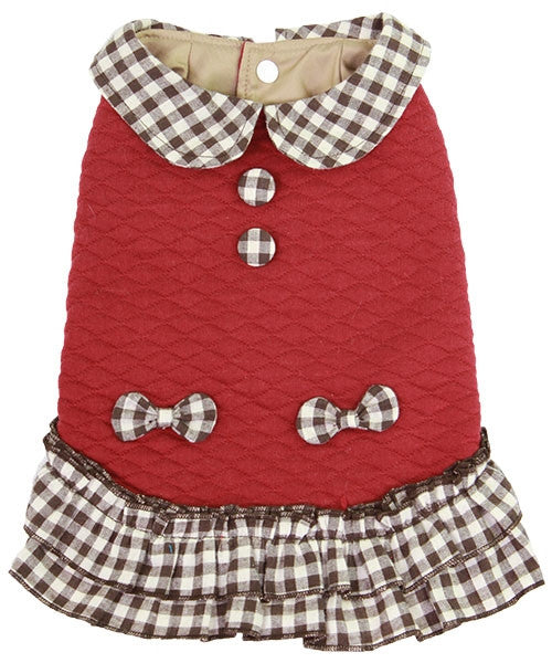 Plaid Dress Red