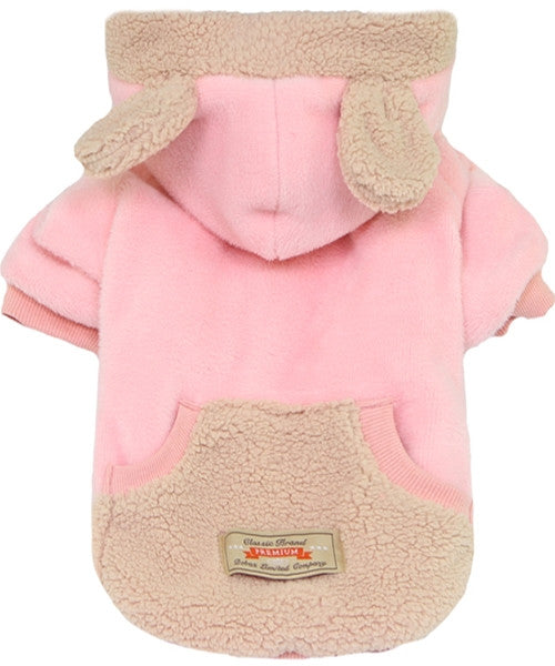 Velour Bear Sweater Pink