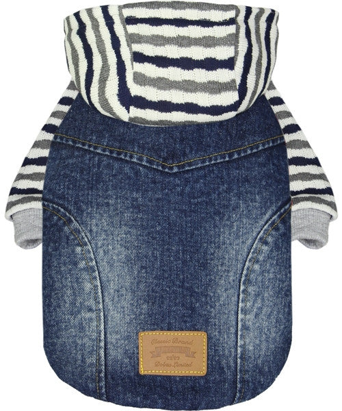 Denim Striped Jacket - Pupaholic.com