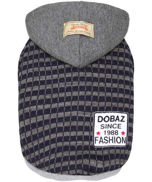 Striped Knit Hoodie Gray/Navy - Pupaholic.com