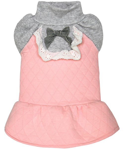 Quilted Winter Dress Pink