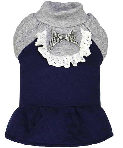 Quilted Winter Dress Blue - Pupaholic.com