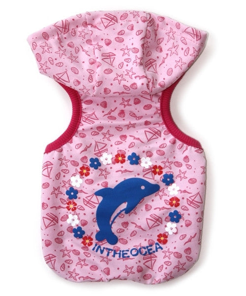 Dolphin Hoodie Pink