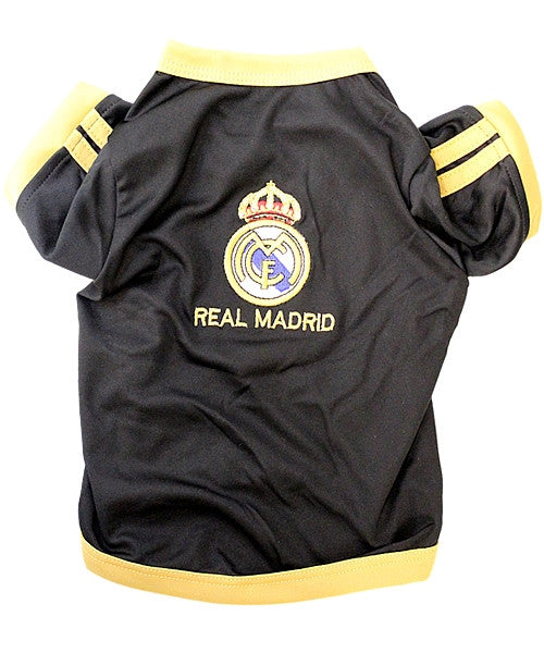 Real Madrid Dog Soccer Jersey - Black