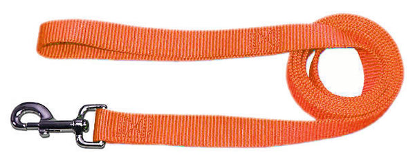 "4' x 3/4"" Nylon Lead - Neon Orange"