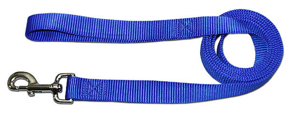 "4' x 3/4"" Nylon Lead - Neon Blue"