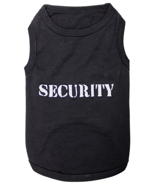 security dog shirt tag