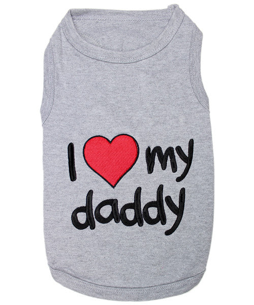 Gray Dog Shirt - I Love My Daddy