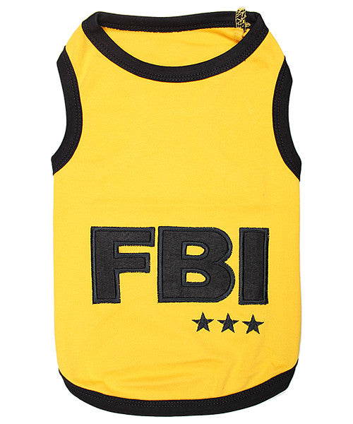 FBI Dog Shirt - Yellow - Pupaholic.com