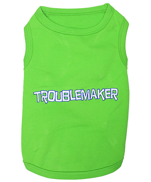 Green Dog Shirt - Troublemaker