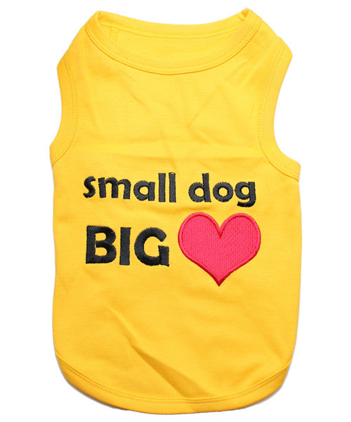 Yellow Dog Shirt - Small Dog Big Heart - Pupaholic.com