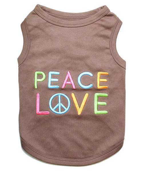 Brown Dog Shirt - Peace Love - Pupaholic.com