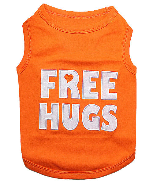 Orange Dog Shirt - Free Hugs