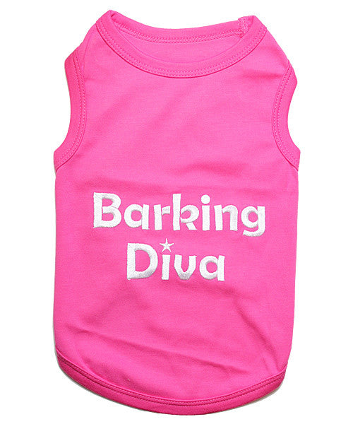 Pink Dog Shirt - Barking Diva