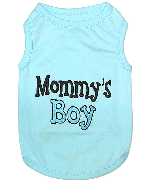 Blue Dog Shirt - Mommy's Boy - Pupaholic.com
