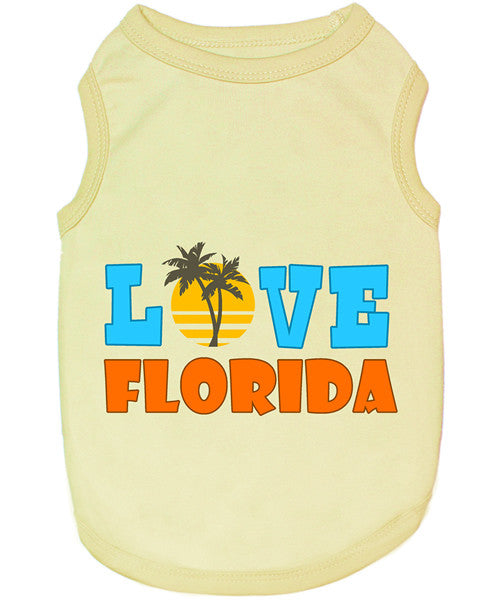 Yellow Dog Shirt - Love Florida - Pupaholic.com