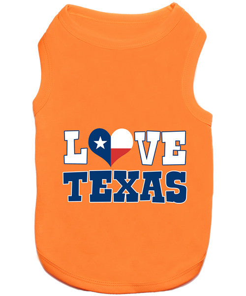 Orange Dog Shirt - Love Texas - Pupaholic.com